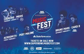 Bud Light Super Bowl Music Festival First Ever Bud Light Music Festival Brings The Biggest Names