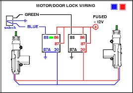 power window relay switch wiring diagram power door locks