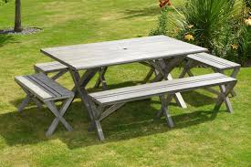 garden dining table with benches. seater antique grey large wooden patio garden dining set chair uk benches uk: full table with g
