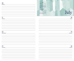 Posh Trapezoid Love 2016 2017 Monthly Weekly Planning Calendar