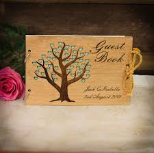 guest book cover shot heart tree