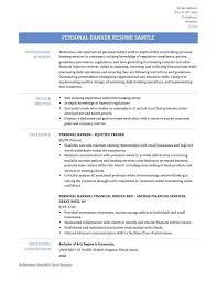 Sample Personal Banker Resume Resume Personal Banker Resume 6