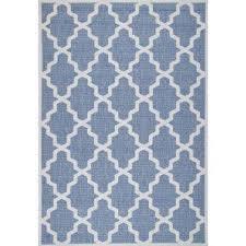 gina moroccan trellis blue 9 ft x 13 ft outdoor area rug