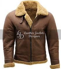 Designer Fur Jacket Men Fur Collar Bomber Style Leather Jacket From Australia Mens Shearling Sheepskin Aviator Coat