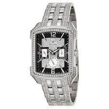 bulova crystal 96c108 men s watch watches bulova men s crystal watch