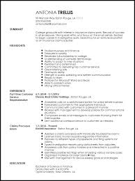 Free Entry Level Insurance Claims Adjuster Resume Template