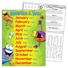 Months Of The Year Frog Tastic Learning Chart