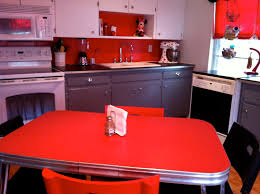 Red And Gold Kitchen Straw Bearie Designs Cute Red 50s Modern Kitchen