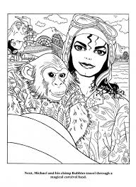 Small Picture Michael Jackson holding a chimpanzee coloring page Famous People
