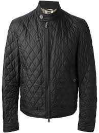 burberry brit quilted jacket in black for men lyst