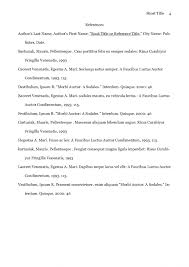 Reference Page For Research Paper Samples Purdue Owl Apa