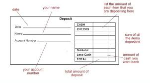 Add Up Deposits For A Subtotal This Is The Total Amount Of Cash And ...