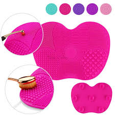 silicone makeup brush cleaner. buy silicone makeup brush cleaner pad washing scrubber board cleaning mat hand tool online | best prices in india: rediff shopping