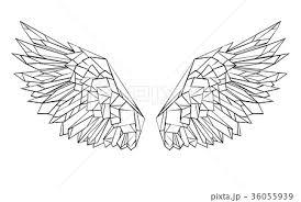 Polygonal Wingsのイラスト素材 36055939 Pixta