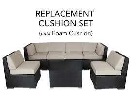 complete replacement cushion covers with foam