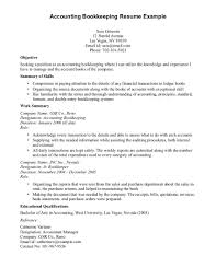Bookkeeping Resume Resume For Study