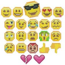 Perler Bead Emoji Patterns