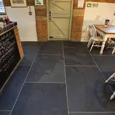 large 30mm thick black calibrated riven slate tiles