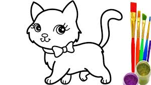 Small Picture How to Draw Cat Coloring Pages Youtube Videos for Kids YouTube