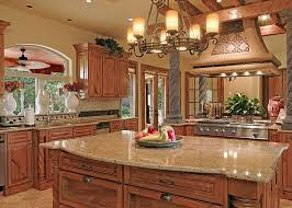 tuscan kitchen design or kitchen style with vintage kitchen chandelier over kitchen island with granite countertop also kitchen wall cabinet in gallery