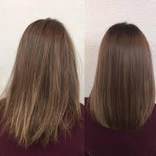 ノーアイロン縮毛矯正ブリーチ履歴3回のお客様です髪質改善no1