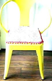 bright yellow outdoor chair cushions pads with ties blue and