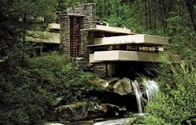 Fallingwater, designed by Frank Lloyd Wright in 1935 and completed in 1937;  near Mill