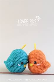 Amigurumi Patterns Free Extraordinary Lovebirds Free Crochet Amigurumi Pattern