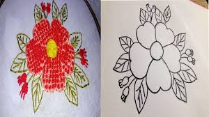 How To Make A Cover Design How To Make Cushion Cover Design Drawing For Hand Embroidery