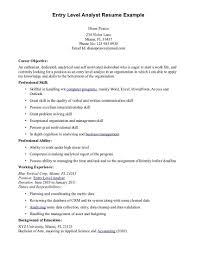 Entry Level Resume Objective Experimental Imagine Extraordinary Idea