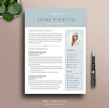 Creative Resume Templates Microsoft Word Stunning Professional Resume Template 48 Modern Creative Boutique