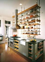 suspended shelves from ceiling open shelf kitchen ideas open kitchen cabinets photos eat well glass shelf