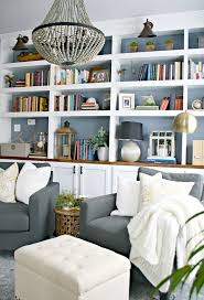 ... Excellent Living Room Bookcases & Built In Built In Shelves Decorating  Ideas White ...