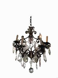 sold purple crystal oval chandelier
