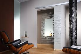 Modern Interior Sliding Doors Modern Interior Glass Doors Door Wenge Finish With Decor