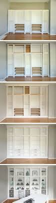 ikea images furniture. diy builtin bookcases made with ikea hemnes furniture custom storage images 2