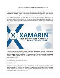 What Is Xamarin Xamarin The Best Framework For Hybrid App Development By Appzure Issuu