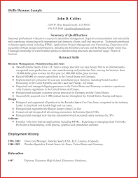 Resume Qualities And Skills Examples Therpgmovie