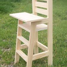 wooden baby doll high chair plans