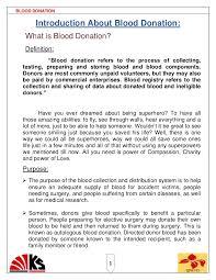 blood donaion ps