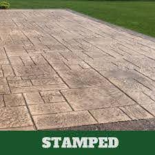 stamped concrete patio stamped
