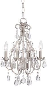 antique nickel crystal chandelier