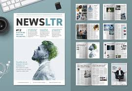 Magazine Newsletter Design Corporate Newsletter Design Template By Mactrunk On