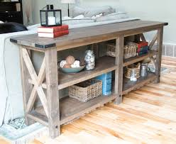 anna white furniture plans. rustic x console anna white furniture plans e