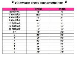 Pillowcase Dress Size Chart Bing Images Pillowcase Dress