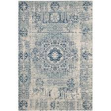 safavieh evoke bohemian vintage look area rug 8x10 ivory blue in ivory