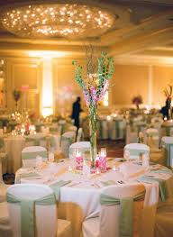 light green and dark pink table setting in a ballroom reception venue sweet southern military