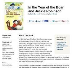 hit a home run in the year of the boar and jackie robinson  using s fabulous book wizard i found a great synopsis of in the year of the boar and jackie robinson check out the summary and general book