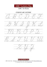 Kids Cursive Handwriting Worksheets A Z Uppercase Printable Writing ...