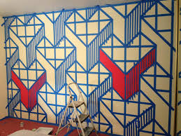 Wall Patterns With Tape Give This Guy Some Paint And Tape The End Result Will Shock You